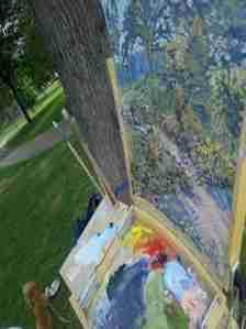 Painting at Loring Park 8-4-2013