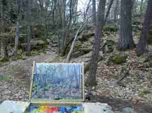 Painting at Interstate Park
