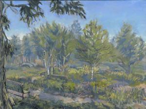 "Loring Park Garden, oil on linen, 9"" x 12"""