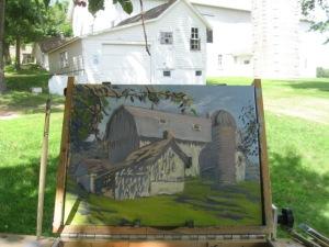 Painting 1886 Barn