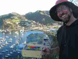 Painting Catalina Avalon Harbor