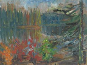 Lake Agnes Evening