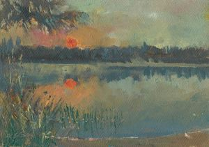 Lake Agnes Rising Sun