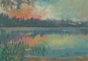 Lake Agnes Sunrise
