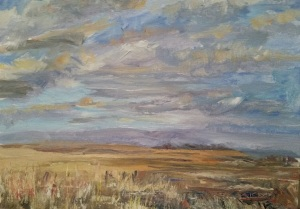 Prairie Above Badlands Wall