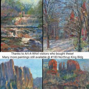 Paintings sold during Art-A-Whirl 2016 Thanks to all who visited and supported artists!